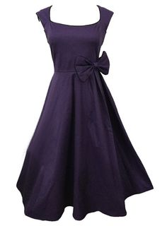 7bc182ecf2d6 Rockabilly Fashion, Stunning Dresses, Cheap Dresses, Retro Vintage, Vintage  Ladies, Embellished Dress, Purple Dress, Vintage Dresses, Cap Sleeves