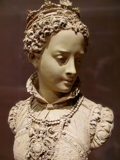 Mary Queen of Scots, ca 1860. Terracotta (1824-1887) Legion of Honor, SF