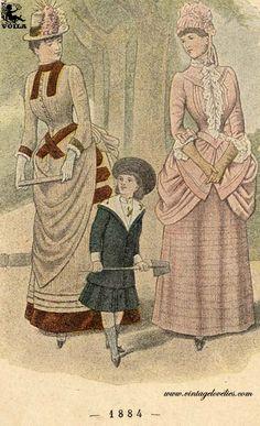 1884 Women's Fashion, Painting, Art, Art Background, Fashion Women, Womens Fashion, Painting Art, Kunst