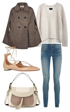 """Untitled #1476"" by victoriaxo97 ❤ liked on Polyvore featuring Yves Saint Laurent, Aquazzura, Chloé, women's clothing, women, female, woman, misses and juniors"