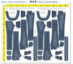 Daniel Bingham jeans fabric and pattern 1