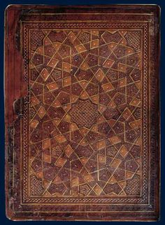 effyeaharthistory:    Cover of a Koran, Egyptian, between 1382 and 1399, stamped leather, gold thread  Only the best for the Egyptian Mameluke sovereigns.
