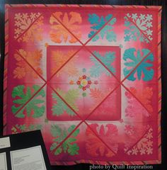 A Palette of Colors by Yukie Sato and friends, 2013 Houston IQF, photo by Quilt Inspiration.  Quilt design by Kathy Nakajima.