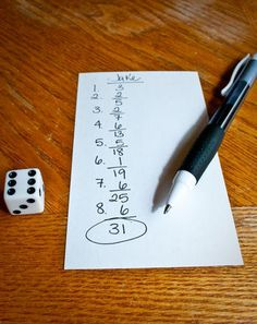 Your first grader will love this addition challenge! Roll dice and keep a running total as you try to achieve the highest score.