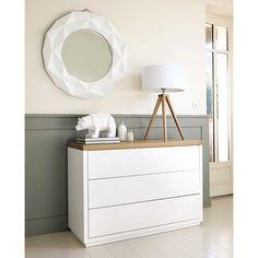 Miroir rond en résine blanche D 79 cm FUBUKI | Maisons du Monde