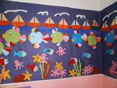 "Sofia's Kindergarten: Καλοκαίρι στο Νηπιαγωγείο: Ομαδική εργασία- κολάζ ""ο βυθός της θάλασσας""."