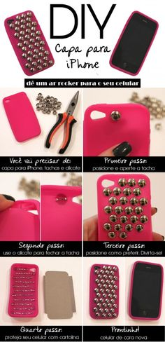 If you're interested in protection of your iphone or ipod touch then you need a case for it. making such case by yourself is a great way to personalize Diy Cape, Iphone Cases Cute, Diy Phone Case, Phone Cover, Laptop Case, Ipad Case, Ideas Prácticas, Pink Iphone, Diy Accessories