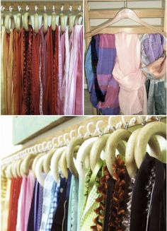 Organizing my mess Scarf Storage. Nice Idea if you have the room! Could also use for ribbon. House Plan With Loft, Shop House Plans, Shop Plans, Iron Furniture, Deck Furniture, Furniture Making, Scarf Storage, Shoe Storage, Storage Ideas