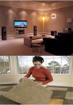 Home Theater Carpet for DIY -- Carpet Tiles
