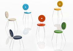 Paolo Rizzatto, Ping Pong Pang chairs for Serralunga