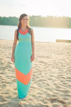 Robin Beach Maxi Dress- Aqua