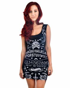 a75cb8a075399 TOO FAST Dress Ouija Board Rest In Pieces GOTH OCCULT Gothic Glam