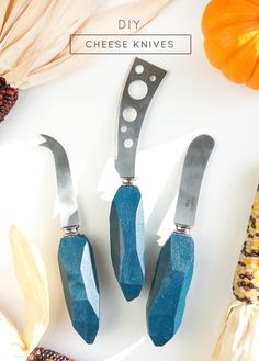 DIY Cheese Knives -