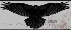 Crow by Sino666.deviantart.com on @deviantART