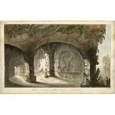 Design for a grotto in imitation of the one at Painshill Park, Cobham, Surrey   RIBA