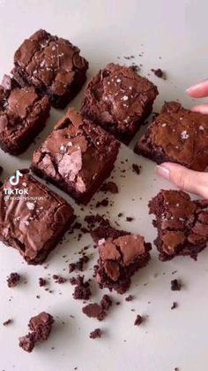 Easy Desserts, Delicious Desserts, Dessert Recipes, Yummy Food, Fudgy Brownies, Peanut Butter Brownies, Brownie Recipes, Food Pictures, Food And Drink