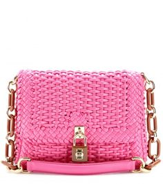 Dolce & Gabbana - Dolce woven leather shoulder bag - mytheresa.com GmbH #Pink