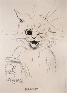 The Chris Beetles Gallery is one of London's most popular commercial art galleries, specialising in traditional British watercolour, illustration, oil paint Crazy Cat Lady, Crazy Cats, Louis Wain Cats, Cat Mouse, Louis Williams, Commercial Art, Cat Drawing, Cat Art, Cats And Kittens