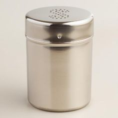 One of my favorite discoveries at WorldMarket.com: Stainless Steel Salt Shaker