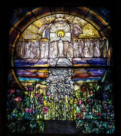Louis Comfort Tiffany stained glass window - Lakeview Cemetery (Cleveland, OH)