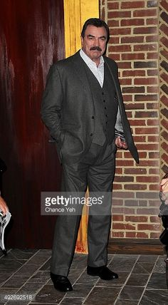 """Tom Selleck attends """"Jesse Stone: Lost In Paradise"""" New York premiere at Roxy Hotel on October 2015 in New York City. Get premium, high resolution news photos at Getty Images Tom Selleck Blue Bloods, Jesse Stone, Sam Elliott, Evolution Of Fashion, Men's Toms, John Wayne, Best Model, Movie Stars, Actors & Actresses"""