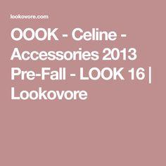 OOOK - Celine - Accessories 2013 Pre-Fall - LOOK 16 | Lookovore