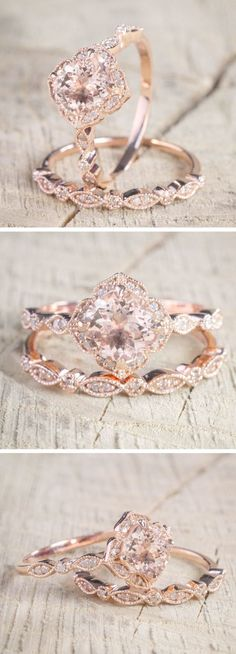 Morganite Diamond Halo Engagement Ring || Modern Vintage Engagement Ring || Budget Friendly Engagement Ring #diamondengagementrings #engagementrings #modernengagementrings
