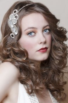 Hair and make up, hair piece by Lucy Marshall