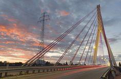 Third Millennium John Paul II Bridge in Gdańsk #photography #bridge #longexposure #gdansk