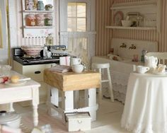 Mini cottage kitchen (from Cynthia's Cottage Design)