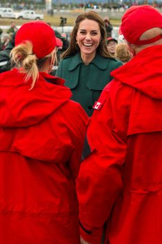 Kate Middleton Photos Photos - Catherine, Duchess of Cambridge meets Canadian Rangers as she arrives at Whitehorse Airport on September 27, 2016 in Whitehorse, Canada. Prince William, Duke of Cambridge, Catherine, Duchess of Cambridge, Prince George and Princess Charlotte are visiting Canada as part of an eight day visit to the country taking in areas such as Bella Bella, Whitehorse and Kelowna. - 2016 Royal Tour to Canada of the Duke and Duchess of Cambridge - Whitehorse and Carcross, Yukon