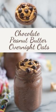 Prep these Chocolate Peanut Butter Overnight Oats the night before and have breakfast waiting for you in the morning! Prep these Chocolate Peanut Butter Overnight Oats the night before and have breakfast waiting for you in the morning! Overnight Oats Chocolate, Peanut Butter Overnight Oats, Overnight Oatmeal, Chocolate Oatmeal, Overnight Oats No Yogurt, Low Calorie Overnight Oats, Dairy Free Overnight Oats, Best Overnight Oats Recipe, Overnight Breakfast
