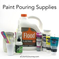 My Fluid Paint Recipe Acrylic Pouring Products Acrylic