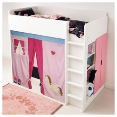 Perfect Bunk Bed Playhouse / Bed Tent / Loft Bed Curtain   Free Design And Colors  Customization Great Ideas