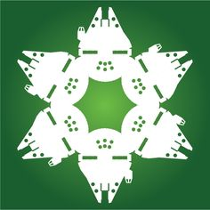 With winter upon us, we thought it would be fun to share a fun project of ours with you: snowflake designs with a Star Wars twist. Snowflake Template, Snowflake Designs, Star Wars Christmas, Kids Christmas, Christmas Design, Star Wars Snowflakes, Paper Snowflakes, Paper Stars, Xmas Ornaments