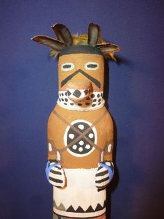 "OLD STYLE HOPI INDIAN ""MOUNTAIN LION"" KACHINA BY AWARD WINNER BRIAN HOLMES"
