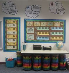 Decoration and Organization - bulletin boards and classroom set-up ideas. Music Classroom Tour - Rhythm and Glues Classroom Setting, Classroom Design, Music Classroom, Classroom Decor, Music Room Organization, Classroom Organization, Organization Ideas, Classroom Management, Organizing