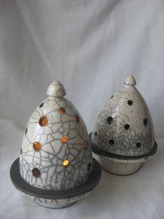 Photophore cloche (luminaire céramique en raku) #photophore #céramique