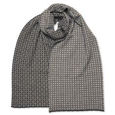 Schal breit Basket, schwarz/weiß