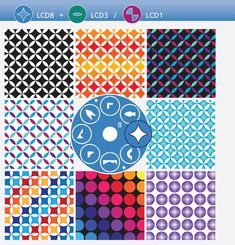 "Patterns by LCD #8 | Vzory z disku LCD 8  An inspiration for work with new LC Disk #8. This publication contains 56 patterns. But you can make many more patterns than are listed here... You can download PDF by clicking on ""share"" and ""download"". To do so, you'll need to first sign into your issuu account. 