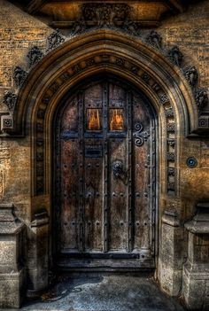 Old College Door, Oxford England