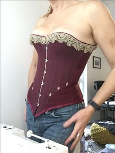 A Victorian demi-bust inspired from the Symington collection, Leicestershire, England Pattern available through Etsy https://www.etsy.com/uk/CorsetsbyCaroline/listing/386293356/corset-pattern-bella-a-ribbon-hybrid?utm_source=Copy&utm_medium=ListingManager&utm_campaign=Share&utm_term=so.lmsm&share_time=1509227464707