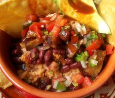 Chifrijo (Crispy Pork, Rice and Beans)   Hispanic Kitchen