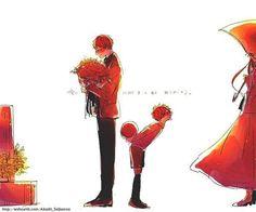 This made me sadder than I thought it would. Basketball Anime, Love And Basketball, Kuroko's Basketball, Akashi Kuroko, Akashi Seijuro, Kuroko No Basket, Akakuro, Gekkan Shoujo, Handsome Anime