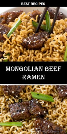 #MONGOLIAN #BEEF #RAMEN Risotto Recipes, Easy Soup Recipes, Best Dinner Recipes, Delicious Recipes, Bread Recipes, New Recipes, Best Chicken Recipes, Salmon Recipes, Seafood Recipes