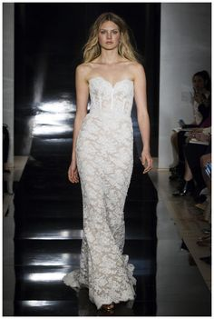 Wedding dress by Reem Acra from the Spring 2017 Bridal collection.