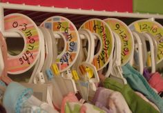 Baby Boy's or Girl's Closet Clothes Dividers by lilfashionista, $14.50