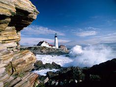 Portland Head Lighthouse Maine                                                                                                                                                     Mais