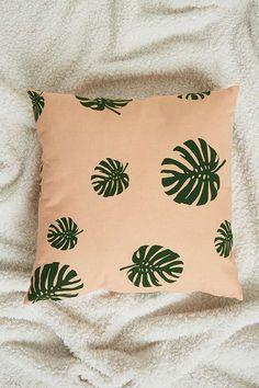 Slide View: 1: Monstera Leaf Cushion