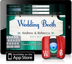 Wedding Booth App | Flying Connected  Wedding Booth app for your iPad, and a place to rent an iPad if you don't own one!